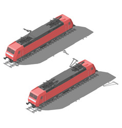modern electric locomotive isometric low poly icon vector image
