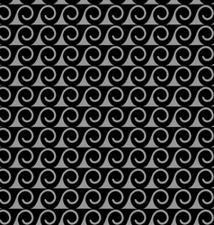 Monochrome seamless pattern with stylized waves vector