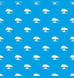New gold mine pattern seamless blue vector