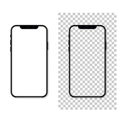 new version of black slim smartphone with blank vector image
