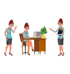Office worker woman secretary accountant vector