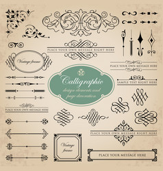 Page decoration and calligraphic design elements vector