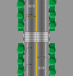 Pedestrian crossing with speed bump vector