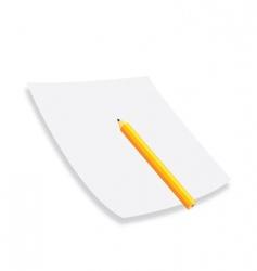 pencil paper vector image