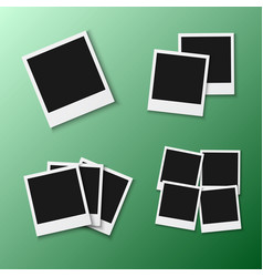 photo frame eps10 realistic snapshot icon square vector image
