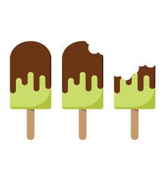 pistachio ice creams cartoon set isolated vector image