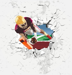 Player football touchdown vector