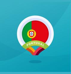 portugal flag map location pin european football vector image