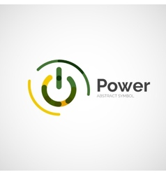 Power button logo design vector