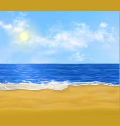 realistic paradise sand beach early vector image