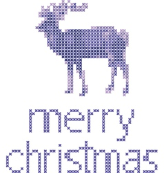 reindeer embroidery vector image vector image
