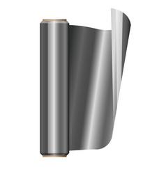 Roll aluminium foil vector