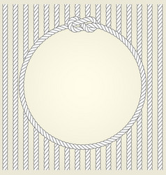 Round rope frame in naval theme vector