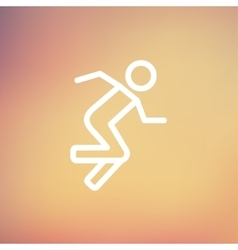 Running man thin line icon vector
