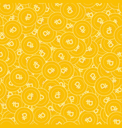 russian ruble coins seamless pattern vector image