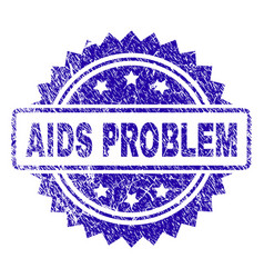 Scratched aids problem stamp seal vector