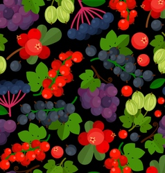 Seamless pattern with red currant vector image