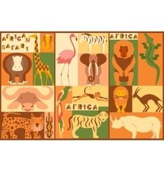 Set of African animals vector