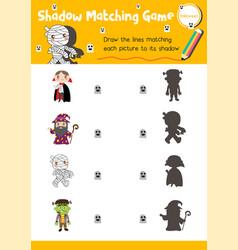 Shadow matching game halloween 2 vector