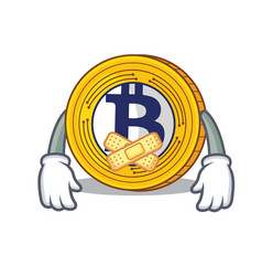 Silent bitcoin gold character cartoon vector