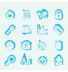 Simple Business and Internet Icons vector
