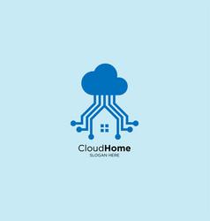 Smart home logo design template vector