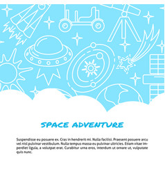 space concept banner in line style with place for vector image