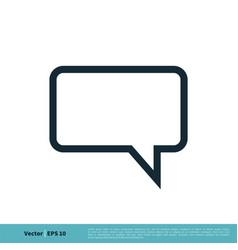 speech bubble line icon logo template design eps vector image
