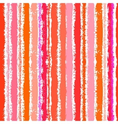 Striped pattern in tropical coral red vector image
