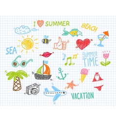 Summer Drawings Collection vector image