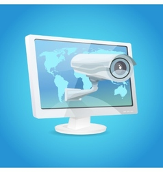 Surveillance Camera And Monitor vector