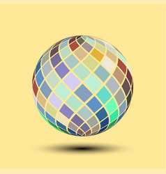 Symmetrical color palette ball vector