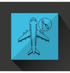 Travel flying concept passenger suitcase design vector