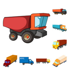 truck and shipping sign vector image