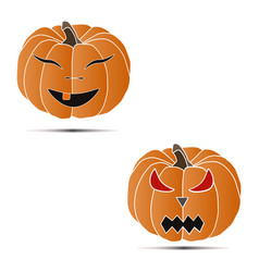 vegetable yellow pumpkin vector image