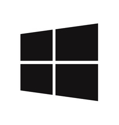 windows logo icon vector image