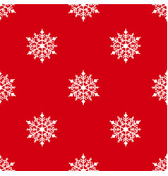 winter seamless background with snowflakes for vector image