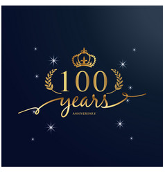 100 years anniversary luxurious logotype backgroun vector image