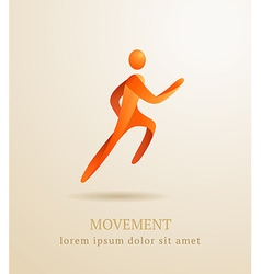 Business concept Abstract human Movement symbol vector image vector image