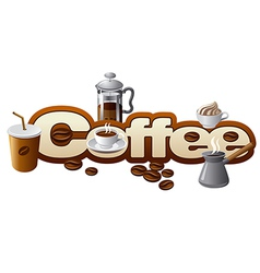 coffee concept vector image vector image