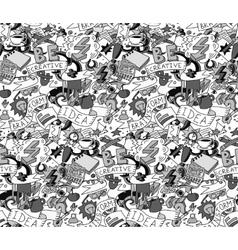 Creative doodles idea brainstorm gray scale vector image vector image