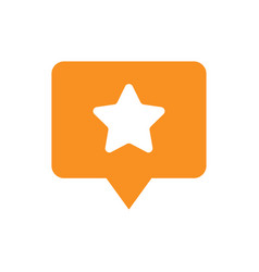 favorite places location pin symbol orange icon vector image vector image