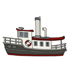 funny old steamboat vector image vector image