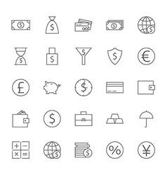 Money Finance Banking Big Icons Set vector image vector image
