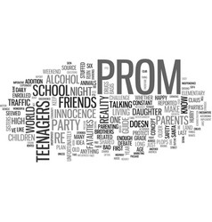 why plan an after prom party text word cloud vector image