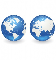 globes of earth vector image vector image