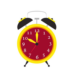 clock alarm icon time isolated wake up background vector image vector image