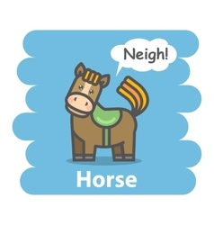 Cute Cartoon horse vector image vector image