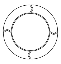 Cycle circle diagram icon outline style vector image vector image