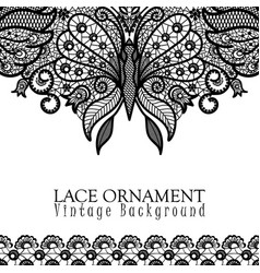 decorative background with lace design vector image vector image